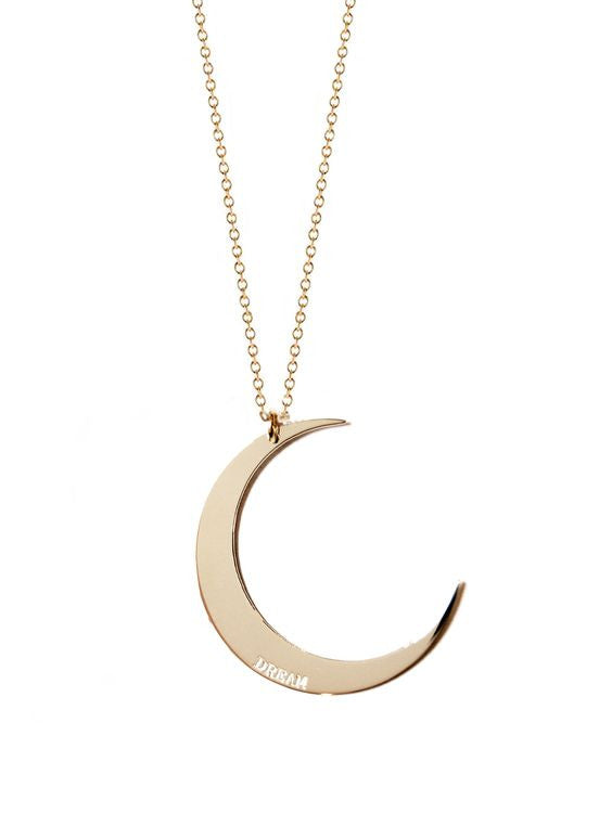 crescent necklace dema naja jewelry miriamdema miriam sun