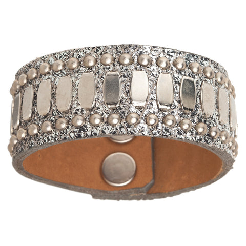 Concha Leather Cuff Bracelet