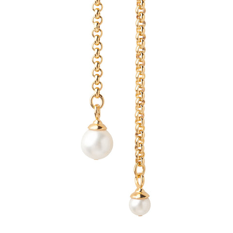14-Karat Gold Pearl Lariat Necklace