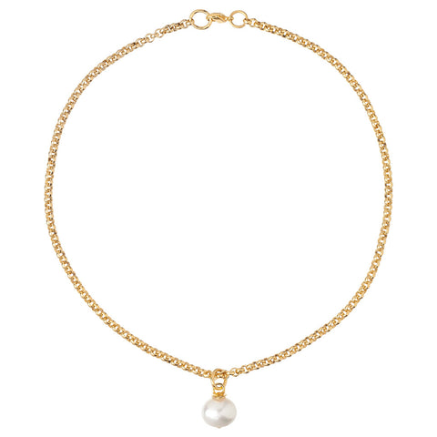 14-Karat Gold Pearl Pendant Necklace
