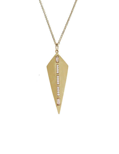 Gold Kite Pendant Necklace