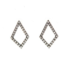 18k Gold & Diamond Kite Earrings