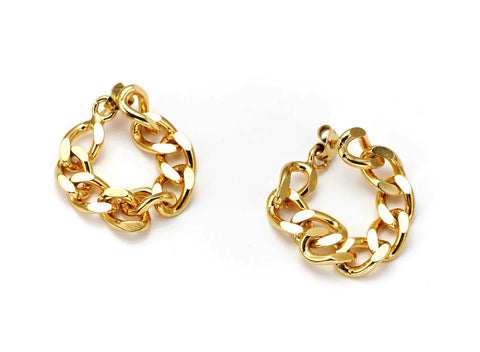 14k Gold & Diamond Petite Hoop Earrings
