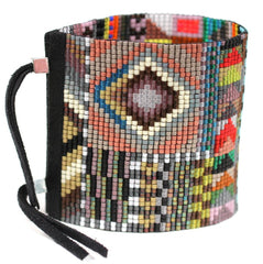 Cape Extra Wide Beaded Cuff Bracelet