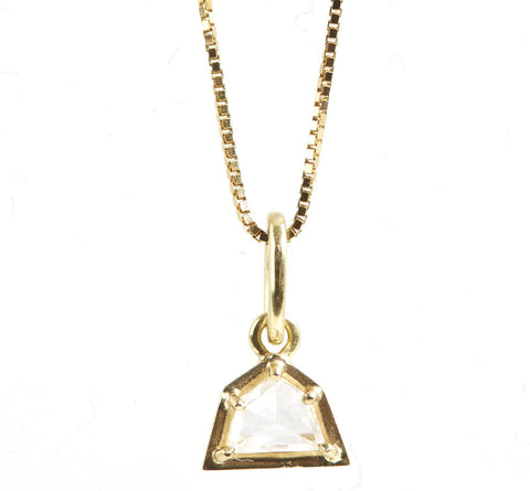 18k Gold & Diamond Geometric Pendant Necklace