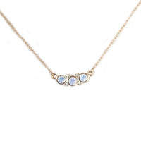 14k Gold Moonstone and Diamond Pendant