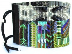 Dakota Wide Beaded Cuff Bracelet