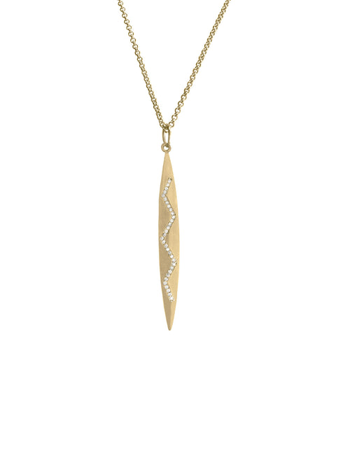 Gold Marquis Pendant Necklace