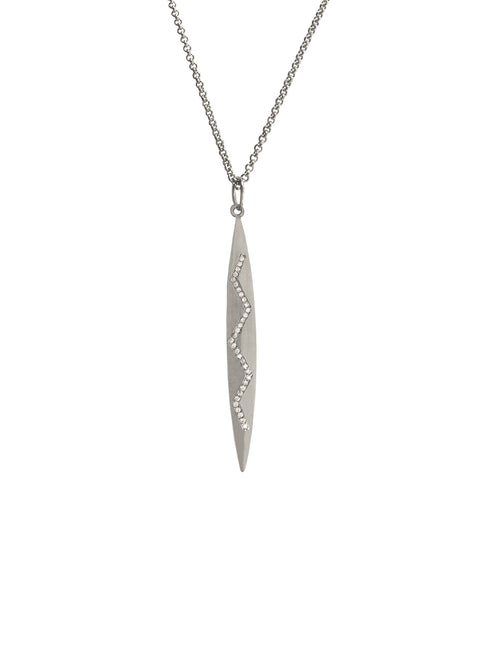 Silver Marquis Pendant Necklace
