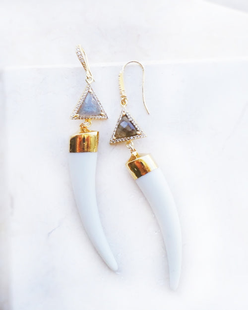 Tusk & Labradorite Earrings
