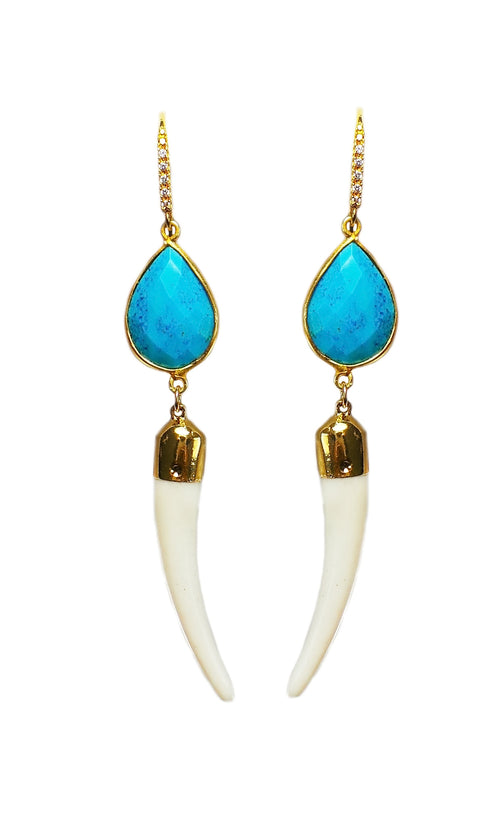 Tusk & Turquoise Earrings