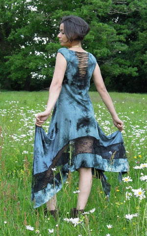 MAXI STEAMPUNK DRESS TIEDYE