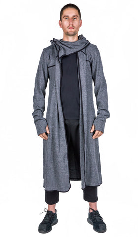 Mens hooded Trench coat