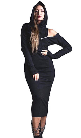 Slinky warm long sleeve dress