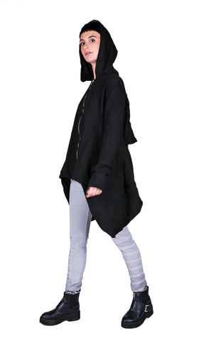 ASYMMETRIC ZIP UP HOODY