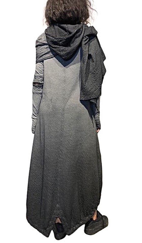 Maxi warm winter dress with shawl