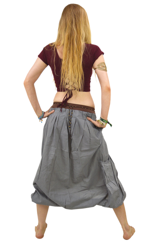 Maxi Balloon Skirt with Pockets