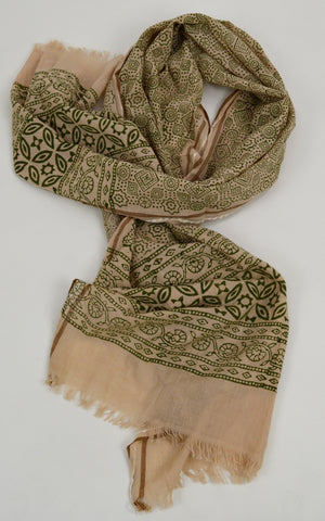Scarf, Shawl, Hair Wrap, Block Print