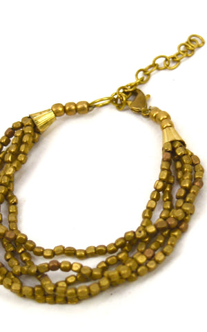 Brass Nugget Chain Bracelt