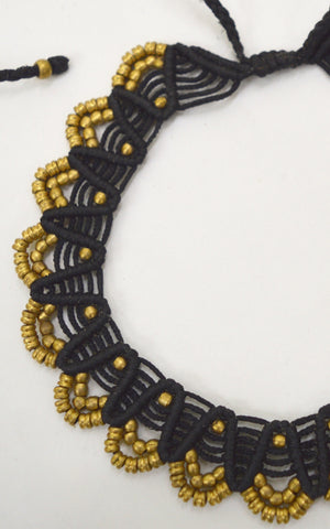 Brass and  Makrami Choker