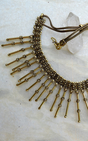 Brass Gypsy Tribal Necklace.