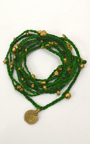 Brass Spiral Multi Necklace / Belly Chain
