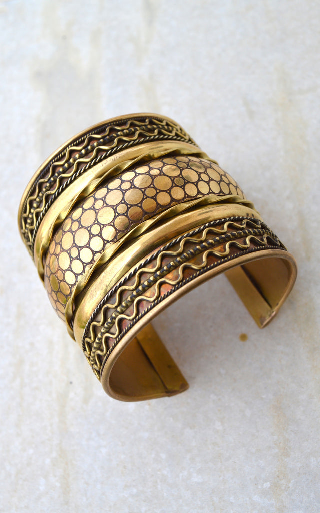 Brass Cuff / Tribal Bracelet