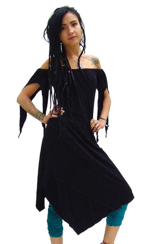 Midi Pixie Dress with Slashed sleeved.