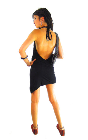 Pixie Dress Backless Asymmetric