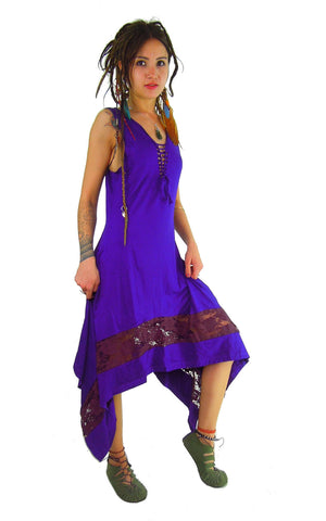 MAXI STEAMPUNK DRESS PURPLE