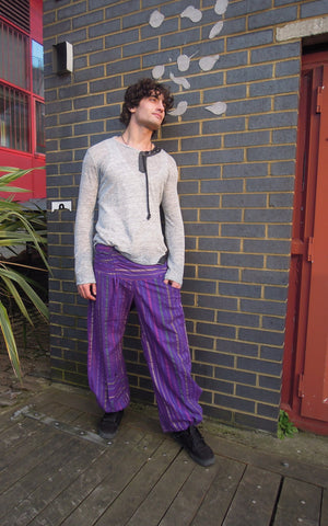 Stripe Fisherman Pants