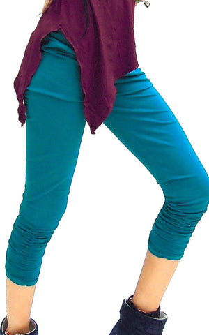 Plain Pleated lycra Leggings