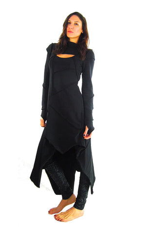 Long Sleeve Asymmetric Dress