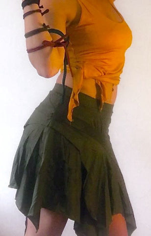 Pixie fairy ragged skirt