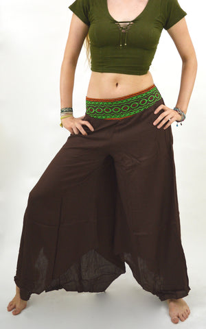Karma Flared Embroidered Gypsy Pants