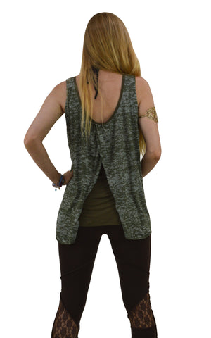 Split way sleeveless Blouse