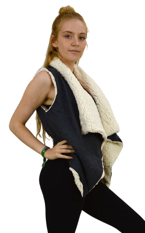 Gillet Polar Fleece sleeveless Waist coat.