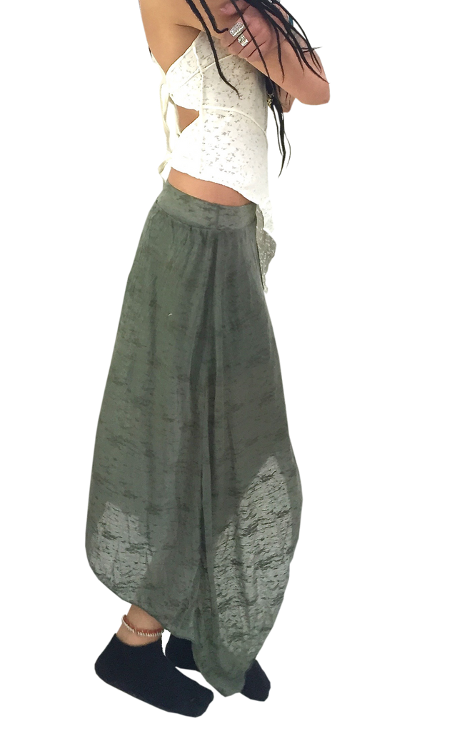 Sheer Boho Gypsy Skirt