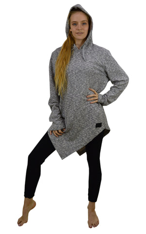 Long Sleeve Asymmetric tunic Hoody.