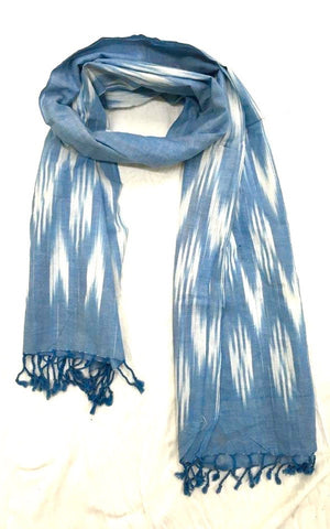 Ikat Dyed Cotton Shawl