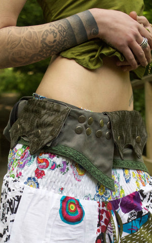Forest Pocket Belt with Lace