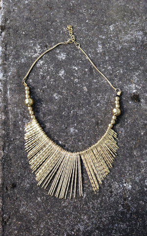 Brass Hammered Necklace