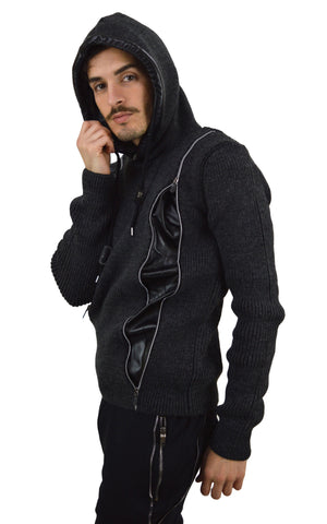 Long Sleeve Zipped Hoody Jumper