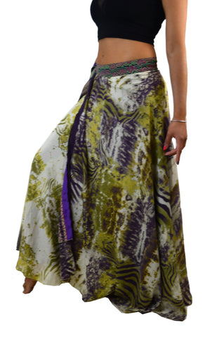Wrap Silk Maxie Skirt