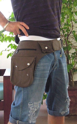 Popper Pocket Canvas Belt
