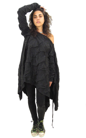 Dark Grey Winter Poncho