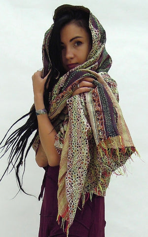 Silk Shawl colourful  Sarong