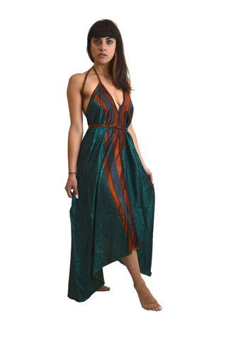 Silk Gypsy Boho Dress