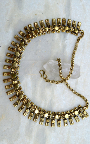 Brass Tribal Rajasthani Gypsy Necklace
