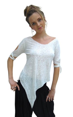 Pixie slashed sleeve pointy top